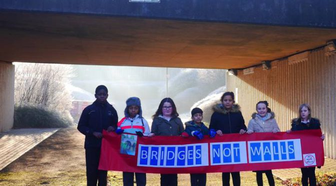 'Bridges not walls' say Summerfield Primary School pupils – 20.1.17