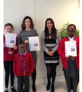 Jubilee Wood pupils take Redways campaign to Dentons – 27.2.18