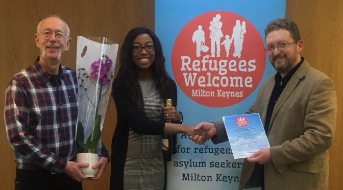 Refugees Welcome MK thanks Dentons solicitors – 21.2.17