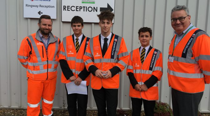 MK Academy students check MK Council progress on Redway improvements
